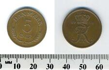 Denmark 1964 - 5 Ore Bronze Coin - King Frederik IX