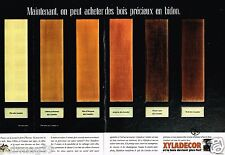 Publicité Advertising 1989 (2 pages) Le Vernis Xyladecor