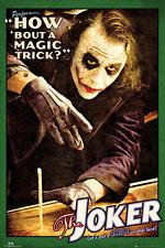 DARK KNIGHT - JOKER MAGIC TRICK POSTER - 24x36 - DC COMICS BATMAN MOVIE 160014
