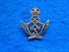 More details for genuine india 1908-1950 3rd queens alexandras own gurkha rifles cast cap badge