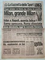 GAZZETTA DELLO SPORT 8-9-1988 VITOCHA-MILAN 0-2 NORRKOEPING-SAMPDORIA 2-1 OTELUL