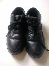 Propet Life Walker Womens Shoes Size 8.5 5E Black Leather Lace Up