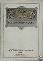 Boston Opera House 1909 Program / Aida / Celestina Boninsegna / Vintage Ads