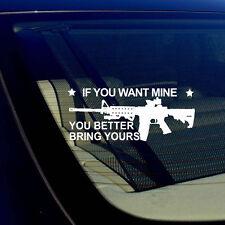 "AR15 If You Want Mine 2nd Amendment Gun Rights Spartan 300 3% Decal Sticker 6"""