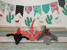 "Caltoy Dragon Dinosaur Pterodactyl Lizard Plush Glove Hand Puppet Toy 9"" Lot 3"