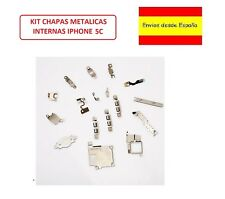 KIT JUEGO CHAPAS METALICAS INTERNAS PARA IPHONE 5C