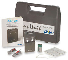 Drive Medical Dual Channel Tens Unit AGF-3E with Hard Case and Electrodes OTC