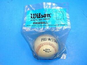 VINTAGE WILSON PRO STAR OFFICIAL SIZE WEIGHT BASEBALL~MINT SEALED IN BAG