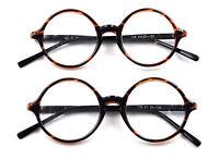 Vintage Round Tortoise Eyeglass Frames Spectacles Glasses Retro Mens Womens