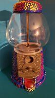 Pop Art Handpainted Vintage Gumball Machine OOAK Keith Haring Inspired