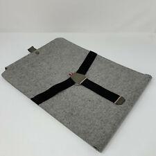 "Hard Graft laptop case 15"" Apple macbook pro, wool felt and leather"