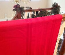 "Solid Red Easy Care Tablecloth 68"" X 52"" Rectangle"