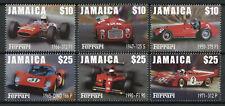 More details for jamaica cars stamps 2000 mnh ferrari 312 f1 dino 166 p auto racing 6v set