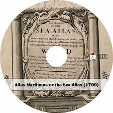 1700 Atlas Maritimus Sea Atlas - 25 Maps of the World - Book on Cd