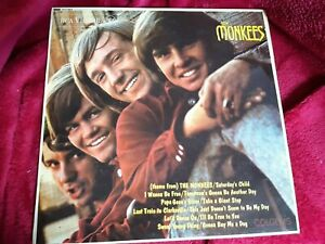 THE MONKEES THE MONKEES / FIRST ALBUM VINYL RECORD 1967 RD-7844 RCA MONO RED DOT