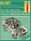BLMC 1100/1300 Mk I & II Austin Morris MG Riley Wolseley Haynes workshop manual