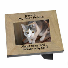 Cat Memorial, A Landscape Wood frame personalised for a much loved pet  |1