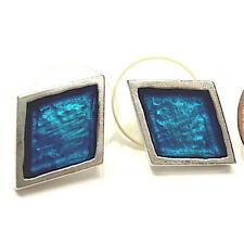 SoHo® Ohrstecker Raute silber blau Kunstharz SoHo