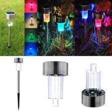 Hot Solar LED Path Light Outdoor Garden Lawn Landscape Stainless Steel Spot Lamp