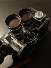 Paillard Bolex 8mm movie camera w/ two lenses