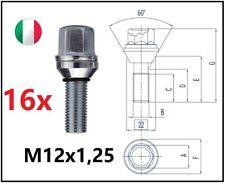 kit 16 bulloni flottanti a variazione interasse M12x1,25 L 28mm Fiat 4x98 4x100