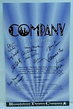 "Company Musical Comedy Cast Signed Broadway Window Card 14""x22"""