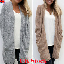 Women Ladies Knitted Sweater Casual Long Sleeve Cardigan Jacket Coat Top Outwear