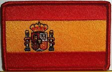 SPAIN / ESPANA Flag Embroidery Iron-On Patch Red Border