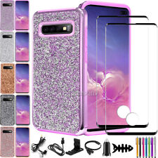 For Samsung Galaxy S10/S10 Plus/S10e Bling Glitter Phone Rugged Hard Case Cover