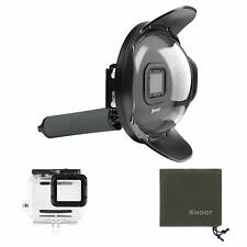Dome Port Diving Waterproof Housing Case+Hand Grip for GoPro 7 Black/Hero 6/5 UK
