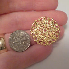 Filigree Flower Connectors Gold 25 x1mm (S/H 0.70)  DIY @VillageBeadShop 4pc