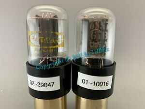 "RARE  GE 6SN7GTB Side Getter ""GLOW DOME"" Vacuum Tubes PLATINUM MATCHED AT1000"