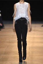 ISABEL MARANT Vienna Pintucked Lace-up Top SZ 42 = Fits US M -NWOT RT $725.00+Tx