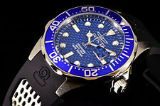 Invicta 12559 Grand Diver Blue Scalloped Edged Blue Dial SS/Rubber Strap Watch
