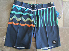NEW QUIKSILVER QUICK DRY GHETTO SURF BOARD SHORTS SWIM SHORTS MENS 34 FREE SHIP