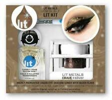 Lit Cosmetics Liquid Metals Lit Kit Crave + Silver Clearly Liquid Glitter Base