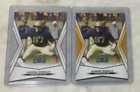 Pittsburgh Panthers AARON DONALD Leaf Draft Gold Parallel RC Lot 2014 LA Rams