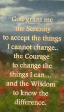 RECOVERY - SOBRIETY BOOK MARK - SMALL  SERENITY PRAYER