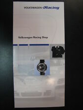 Flyer / Brochure Volkswagen Racing Shop (Duits)