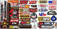 Many logo 3 sheets ST35 car motorcycle motocross bike sport racing decal sticker