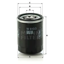 Mann W610/3 Oil Filter Spin On 90mm Height 66mm Outer Diameter Service