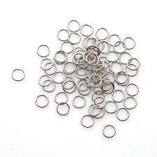 1000x Wholesale Rhodium Plated Jump Rings Split Ring Findings 7mm 160332