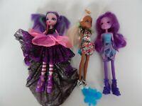My Little Pony MLP Equestrian Girls dolls x 3