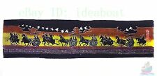 Folk Art Wall Hanging Batik Tapestry - The Steed Cavalry Defend Country 44x170cm