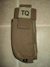 USMC ISSUE COYOTE TQ POUCH CAT TOURNIQUET POUCH W/NSN RESOURCE CENTER CIF