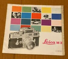 Leica M3 Camera 8 x 8 in Brochure, 20 Page, 1960's Approx