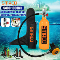 SMACO Mini 1L Diving Air Tank Scuba Cylinder Underwater Breath Oxygen Tank Set