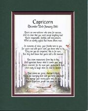 Capricorn Horoscope Astrological Sign Poem Gift For 16th 18th 21st 30th Birthday