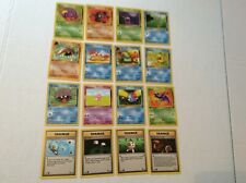 Pokemon FOSSIL 16-Card Common complete Set 46-62