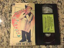 A QUE LE TIRAS CUANDO SUENAS MEXICANO RARE VHS 1979 SPANISH MEXI LUIS DE ALBA